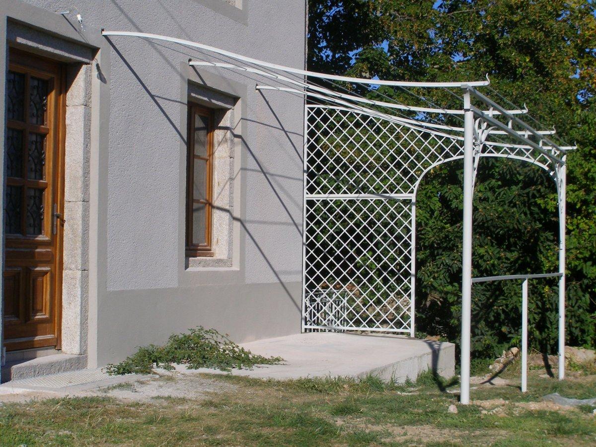 Ferronnerie D 39 Art Rocle Pergola Gloriette Marquise Arche De Jardin